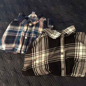 Plain and colorful flannel set